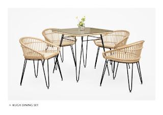 Minimalist dining furniture rattan furniture wholesale, natural rattan furniture, furniture wicker