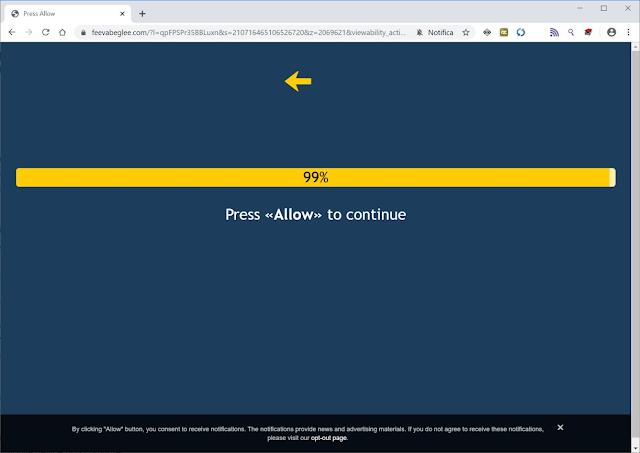 Feevabeglee.com pop-ups