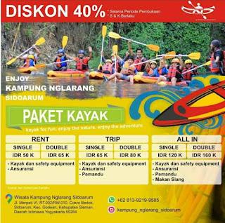biaya rafting wisata kampung nglarang sidoarum