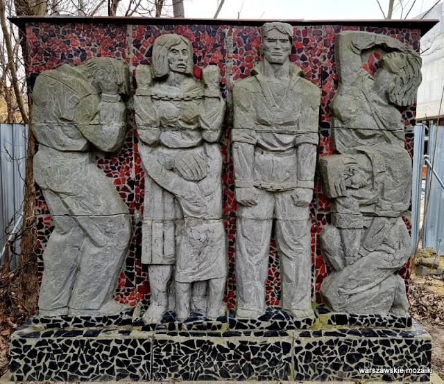 rzeźbiarz Edmund Majkowski Warszawa Warsaw pomnik Cytadela Warszawska Brama Straceń Żoliborz mozaika
