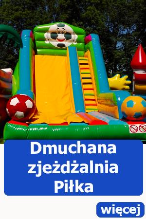 Dmuchana zjeżdżalnia piłka, atrakcje dla dzieci dmuchańce atrakcje piłkarskie