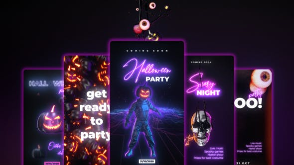 Neon Halloween Stories[Videohive][After Effects][28972637]
