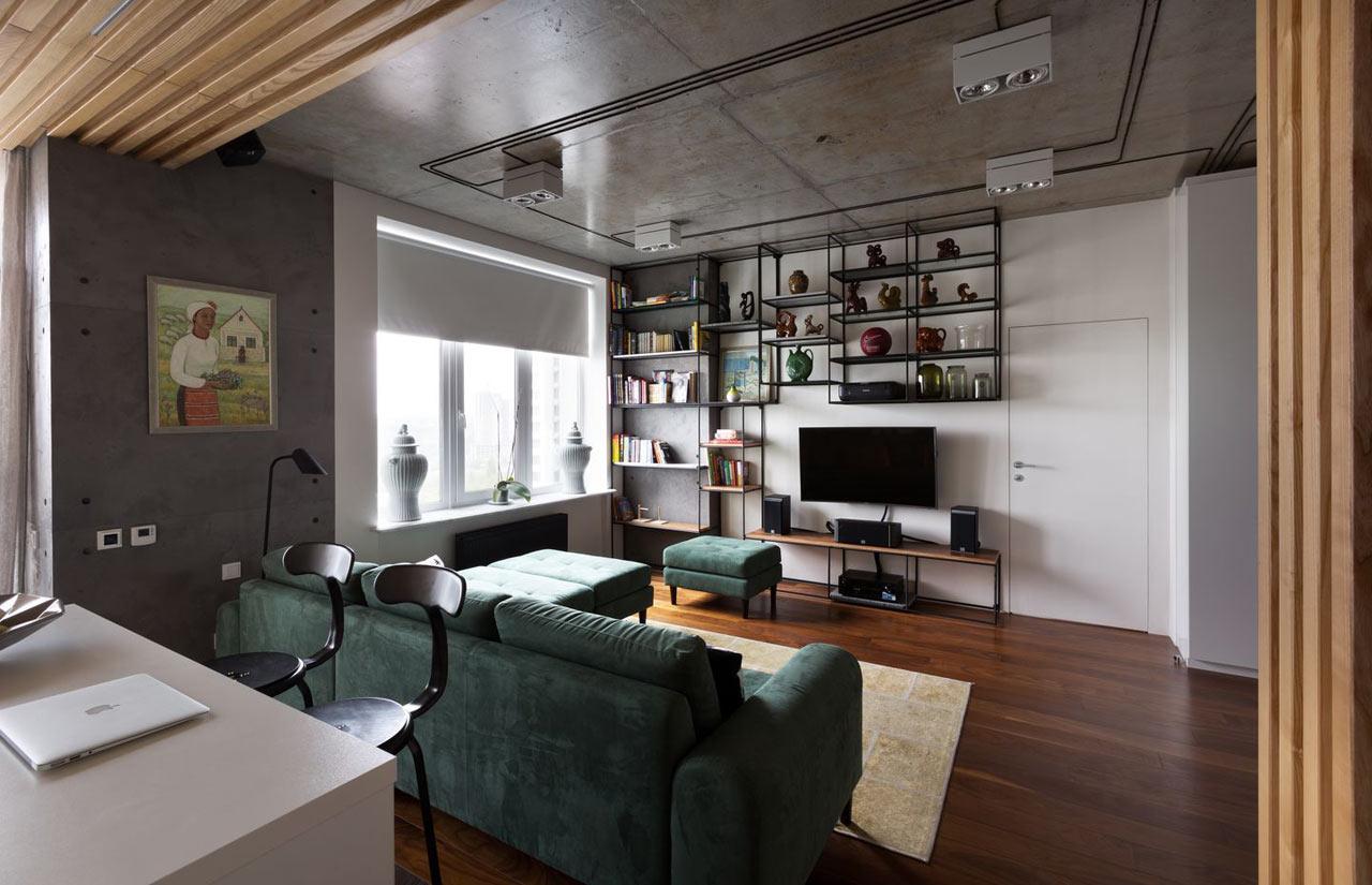 Eccezionale Un appartamento in Ucraina dallo stile industriale OW55