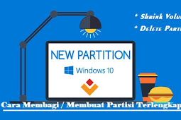 Cara Membagi / Membuat Partisi Hardisk Windows 10, 8, 7