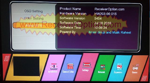 GX6605S HW203.00.015 TEN SPORTS & CCCAM OK NEW SOFTWARE WITH BEAUTIFUL MENU