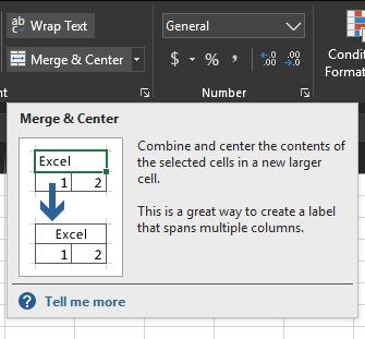 Merge Cells