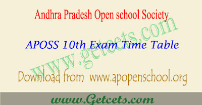 AP open 10th time table 2018, aposs ssc exam dates 2018-2019