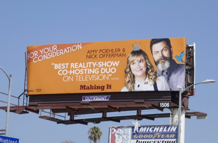 Making It season 1 Emmy nominee billboard