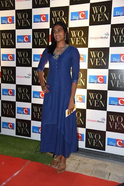 P. V. Sindhu at Woven 2017 Fashion Show Stills