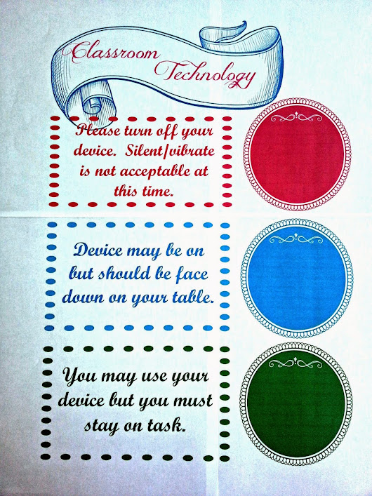 Classroom Technology Usage Sign