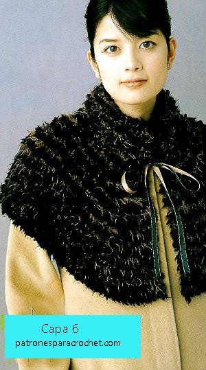capa tejida con patrones