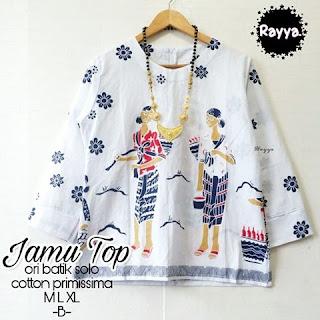 Blouse Batik Jamu Top Katun Primissima B