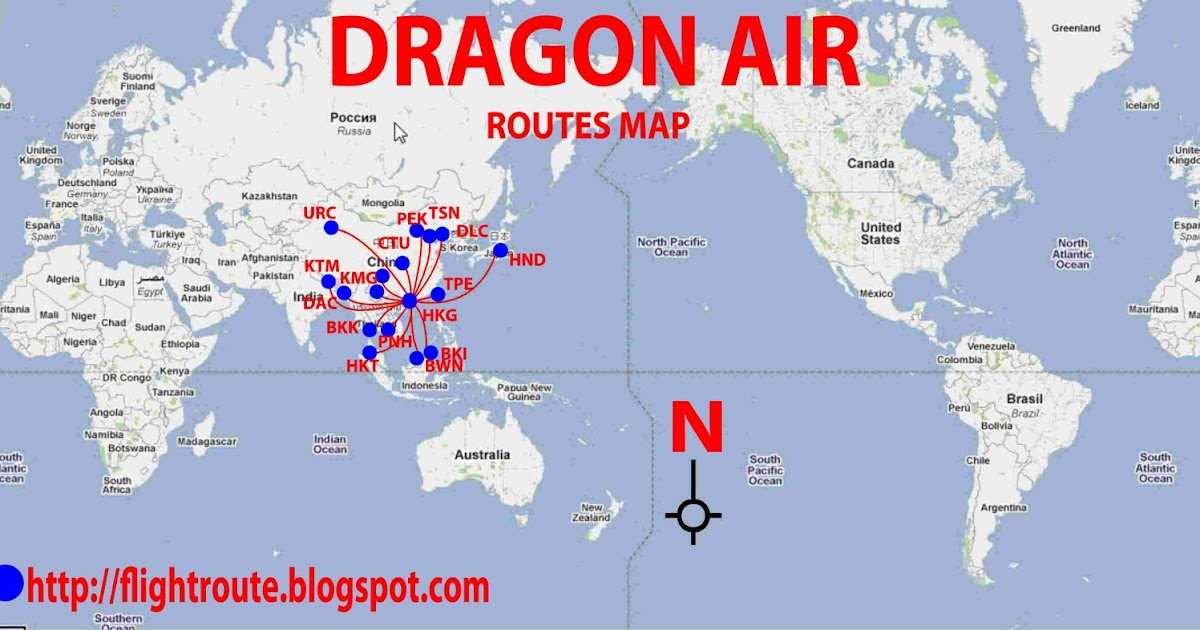 Routes Map Dragon Air Routes Map
