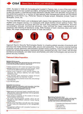 Cardlock Hotel Mifare System CISA