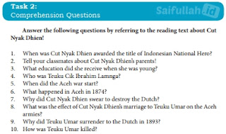 Kunci Jawaban Bahasa Inggris Chapter 11, Halaman 147, Comprehension Questions Kelas 10