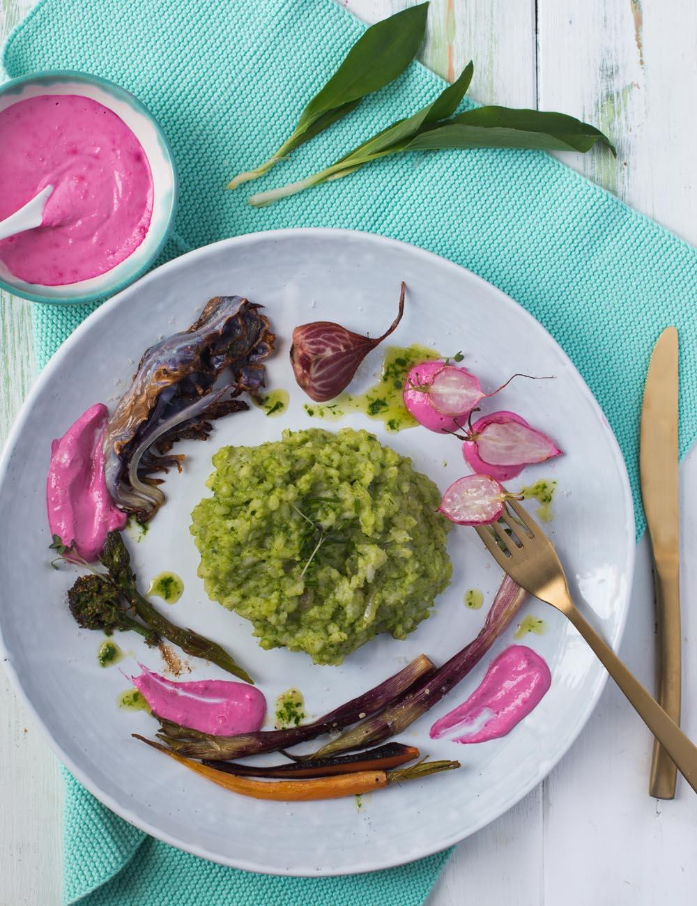 Vegetarisches Ostermenü -  3 Gänge mit Frühlings-Ernte-Gemüse aus Multi-Dampfgarer von AEG