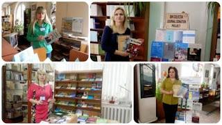 bibliotecare M. Magher, L. Ababii, E. Ţurcanu, A. Hăbăşescu