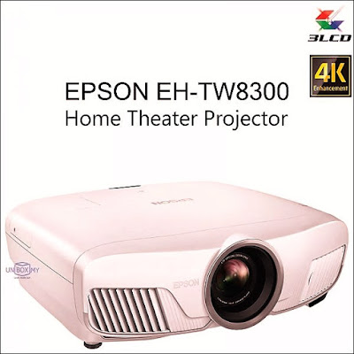 Epson Launched 3LCD EH-TW8300 Home Theater 4K Projector