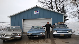 Charlie and his 3 classic cars.