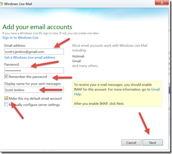 Simple Spider Blog: Configure Windows Live Mail for Gmail