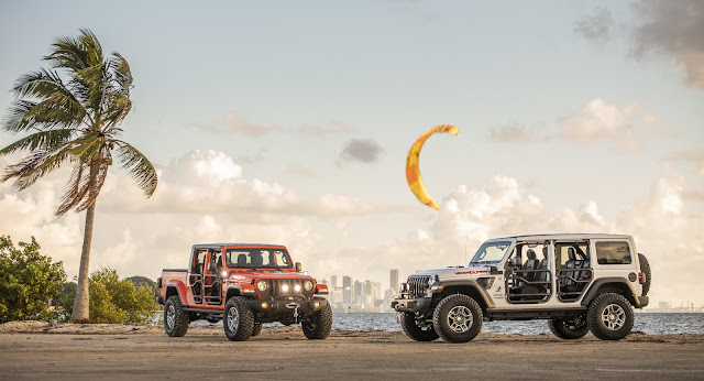 "New 2020 Jeep® Wrangler and Gladiator ""Three O Five"" Edition models debut at Miami Auto Show"