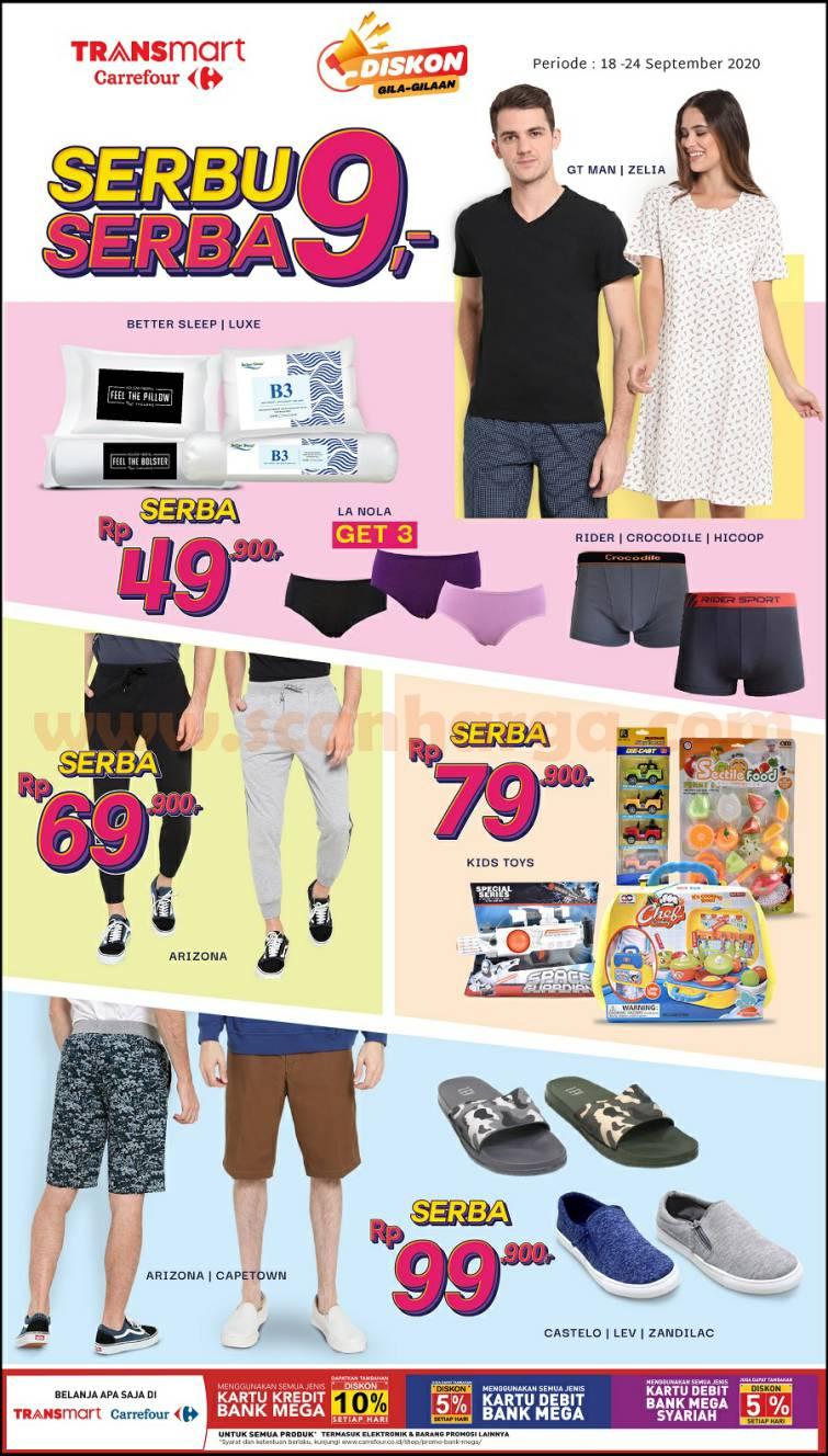Transmart Carrefour Promo Serbu Serba 9,- Periode 18 - 24 September 2020