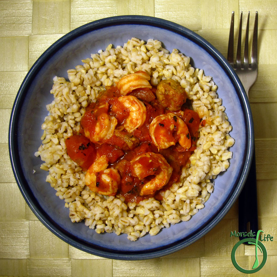 Morsels of Life - Slow Cooker Creole Jambalaya - A spicy, smoky stew of peppery sausage and shrimp simmering in a tangy, zesty jambalaya.