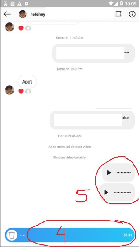 Tekan dan Kirim Pesan Suara ke Teman Anda di Instagram