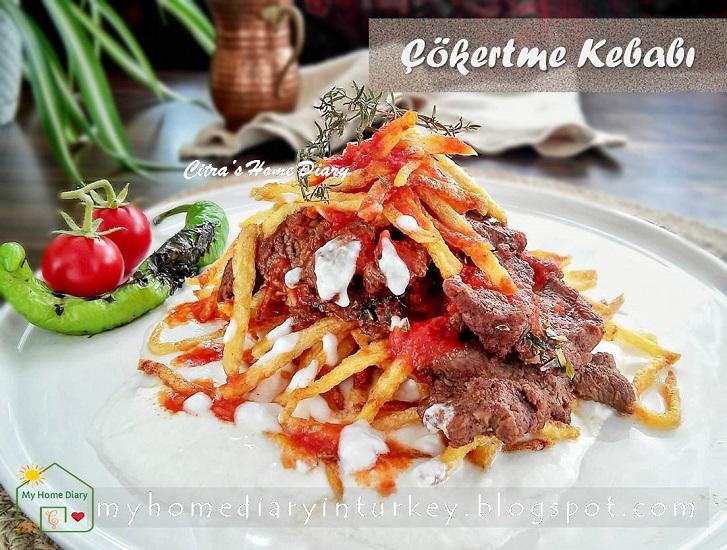 Turkish Food Recipe; Lamb /veal steak with garlic yogurt sauce (Çökertme Kebabı) | Çitra's Home Diary