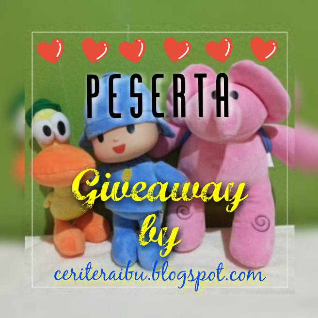 Senarai Peserta Giveaway by Ceriteraibu.blogspot.com