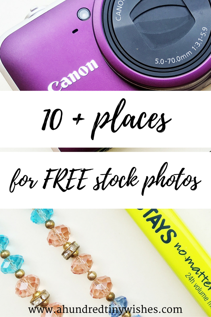 10 places for free stock photos