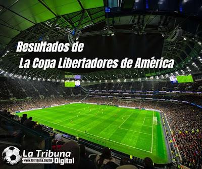 RESULTADOS DE LOS PARTIDOS DE LA COPA LIBERTADORES DE AMÉRICA