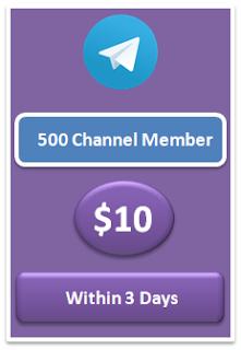 500 telegram channel member