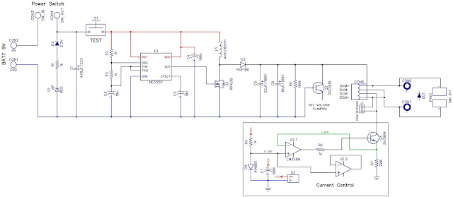 Zener and LED diode tester schematic