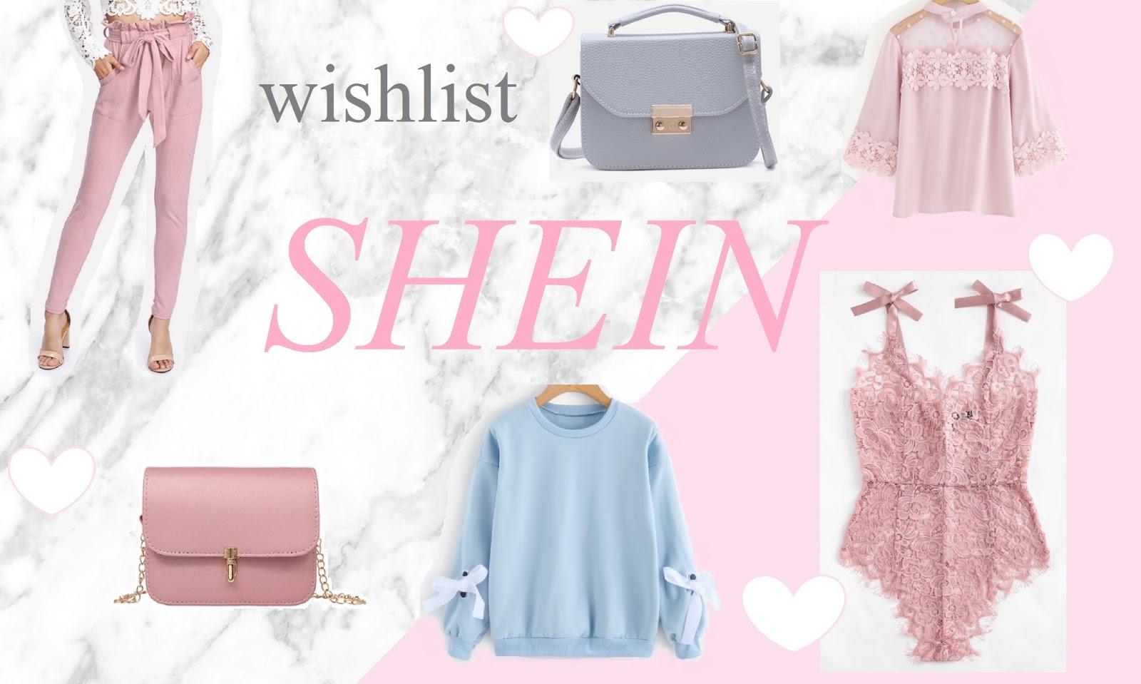 Pastelowe ubrania na wiosnę - Wishlist Shein