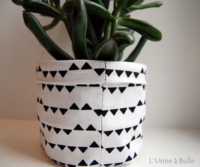diy cache pot en tissu l 39 usine bulle. Black Bedroom Furniture Sets. Home Design Ideas