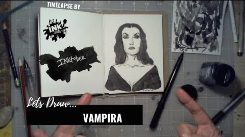 We Drew Vampira - Bad Ass Ladies of Horror - Inktober 2018