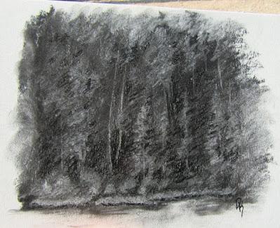 charcoal nature sketch silver lake utah