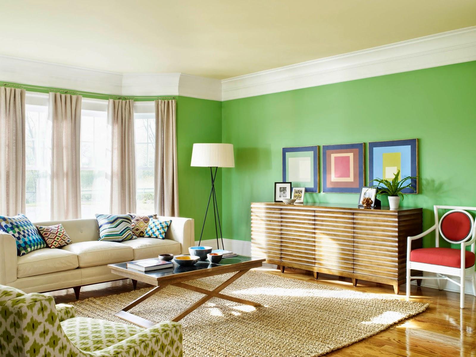paduan warna cat ruang keluarga