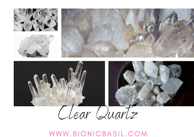 Colouring with Cats ©BionicBasil® Crystal of The Week - Clear Quartz