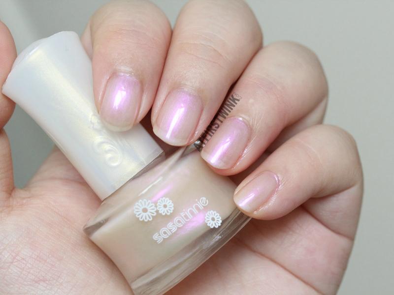 Sasatinnie nail polish P605 - Orchid pearl pink sheen whole hand