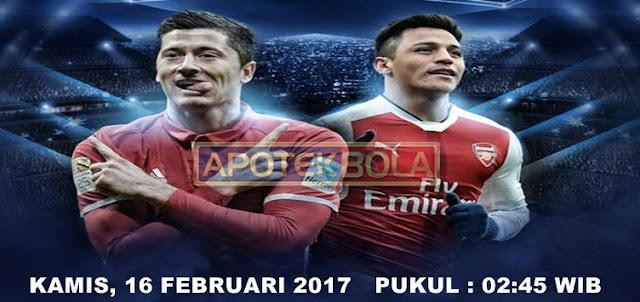 Prediksi Pertandingan Bayern Munchen vs Arsenal 16 Februari 2017