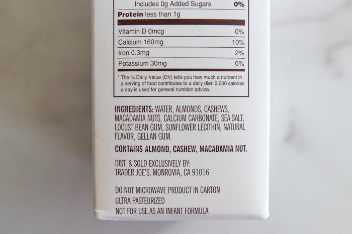 Trader Joe's Almond, Cashew, Macadamia Nut Beverage Review