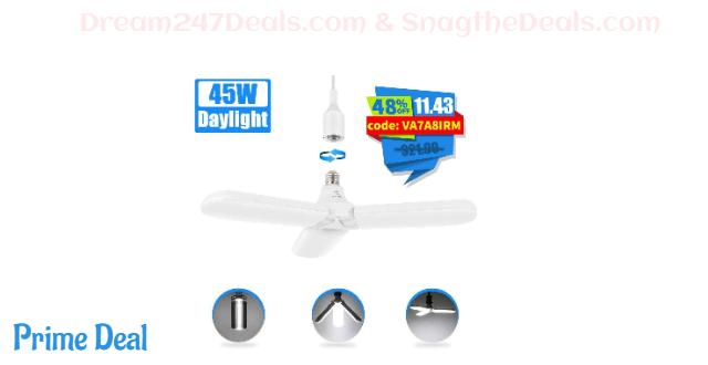 48%OFF LED Garage Light Deformable Led Garage Ceiling Lights 45W 4500LM Basement Lightning Led Garage Lightings