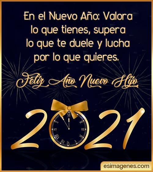 Feliz Año Nuevo 2021 Hijo