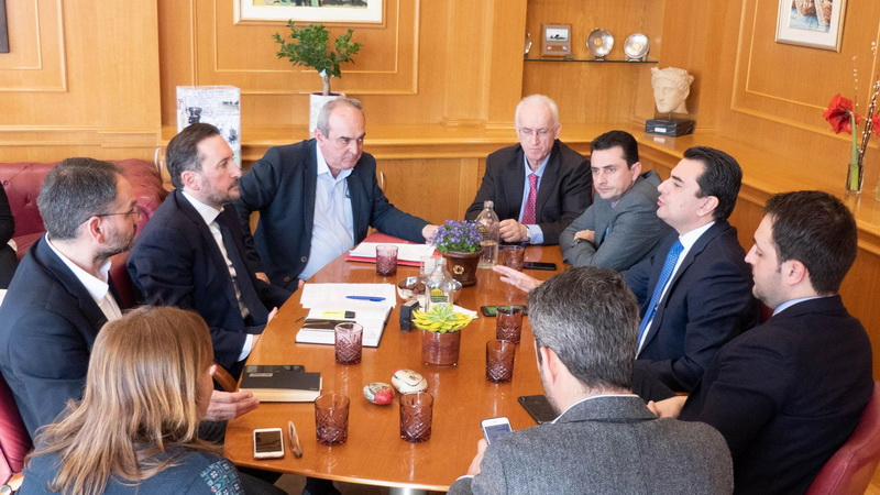 Συνάντηση του Δημάρχου Αλεξανδρούπολης Γιάννη Ζαμπούκη με τον Υφυπουργό Αγροτικής Ανάπτυξης Κώστα Σκρέκα