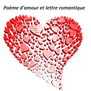 Poème d'amour et lettre romantique