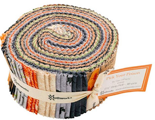 HALLOWEEN-JELLY ROLL-QUILT FABRIC