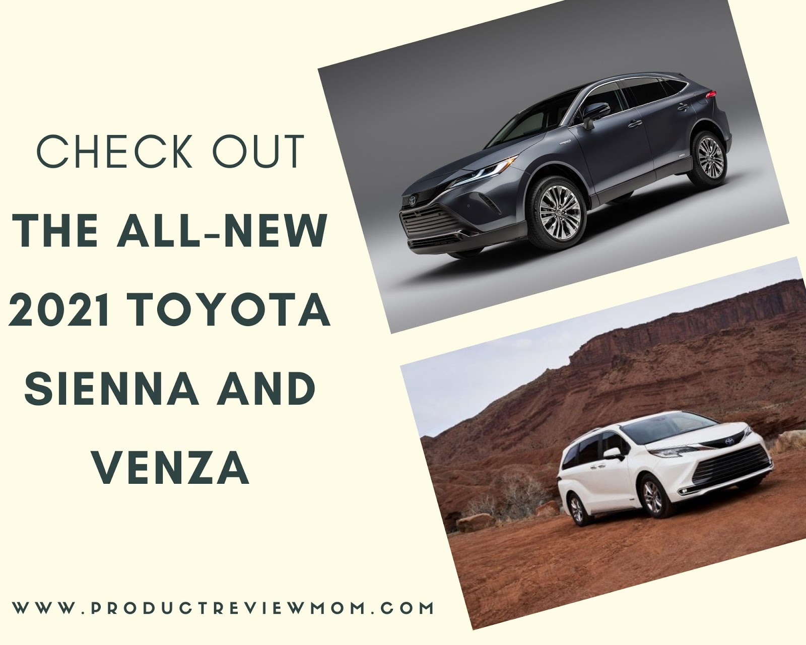 Check Out the All-New 2021 Toyota Sienna and Venza