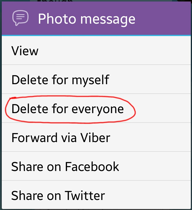 Deleting sent messages on Viber « Amazing Tips247